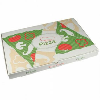 Pizzadozen, Cellulose 'pure' plein 40 cm x 60 cm x 5 cm, verpakt per 50 stuks
