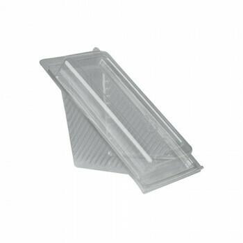 Sandwichboxen met klapdeksel, PLA 'pure' rectangular 8,8 cm x 8,5 cm x 16,7 cm transparant small, Verpakt per 500 stuks