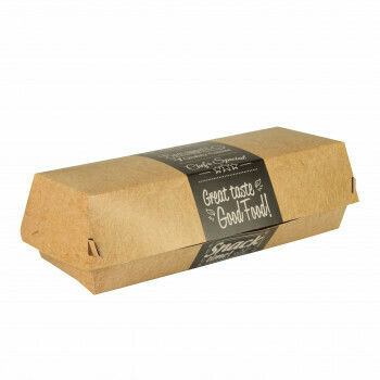 Baguettebox karton (Good Food) | 21 cm x 7,5 cm x 6,2 cm, verpakt per 375 stuks