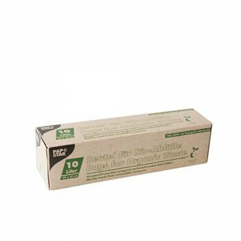 Compostzakken, bio-folie 15 liter. 44 cm x 55 cm groen met handvatten, verpakt per 270 stuks