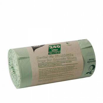 Compostzakken, bio-folie 240 liter 145 cm x 110 cm groen, verpakt per 150 stuks