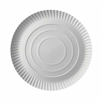 Borden, karton 'pure' rond Ø 26 cm · 2 cm wit, Verpakt per 200 stuks