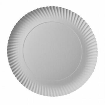Borden, karton 'pure' rond Ø 29 cm · 2 cm wit, Verpakt per 200 stuks