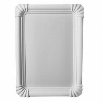 Schaaltjes, karton 'pure' plein 11 cm x 24 cm wit, Verpakt per 1000 stuks