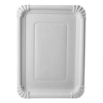 Schaaltjes, karton 'pure' plein 21,5 cm x 29 cm wit, Verpakt per 250 stuks
