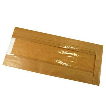 Broodzakken (met venster), Bruin Papier | 16/5x36cm, verpakt per 1000 stuks