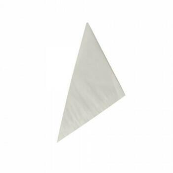 Puntzakken, pergament 19 cm x 19 cm x 27 cm wit inhoud 125 gr, vetvrij, verpakt per 1000 stuks
