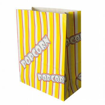 Popcorn zak, Ersatz papier 4,5 l 24,5 cm x 19 cm x 9,5 cm 'Popcorn' vetwerend, verpakt per 500 stuks