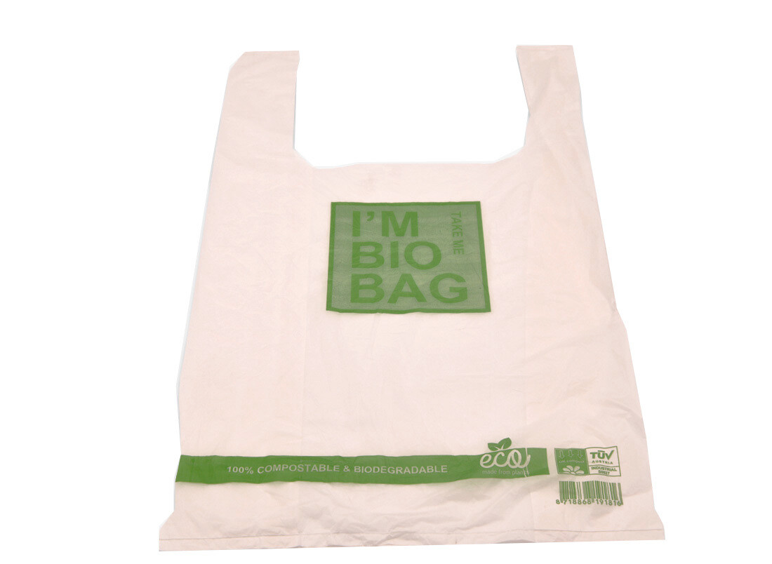 "Draagtasje ""Bio Bag"" 30+18x60cm, 18my dik, verpakt per 500 stuks"