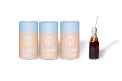 Stro rietjes van Straw by Straw, 23cm, verpakt per 500 stuks