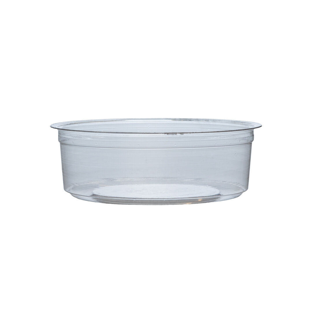 PLA container 240ml/11,5cm Ø x 4cm hoog, verpakt per 50 stuks
