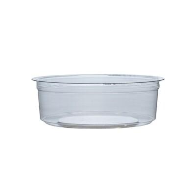 PLA container 8oz/240ml/11,5cm Ø x 4cm hoog, verpakt per 50 stuks