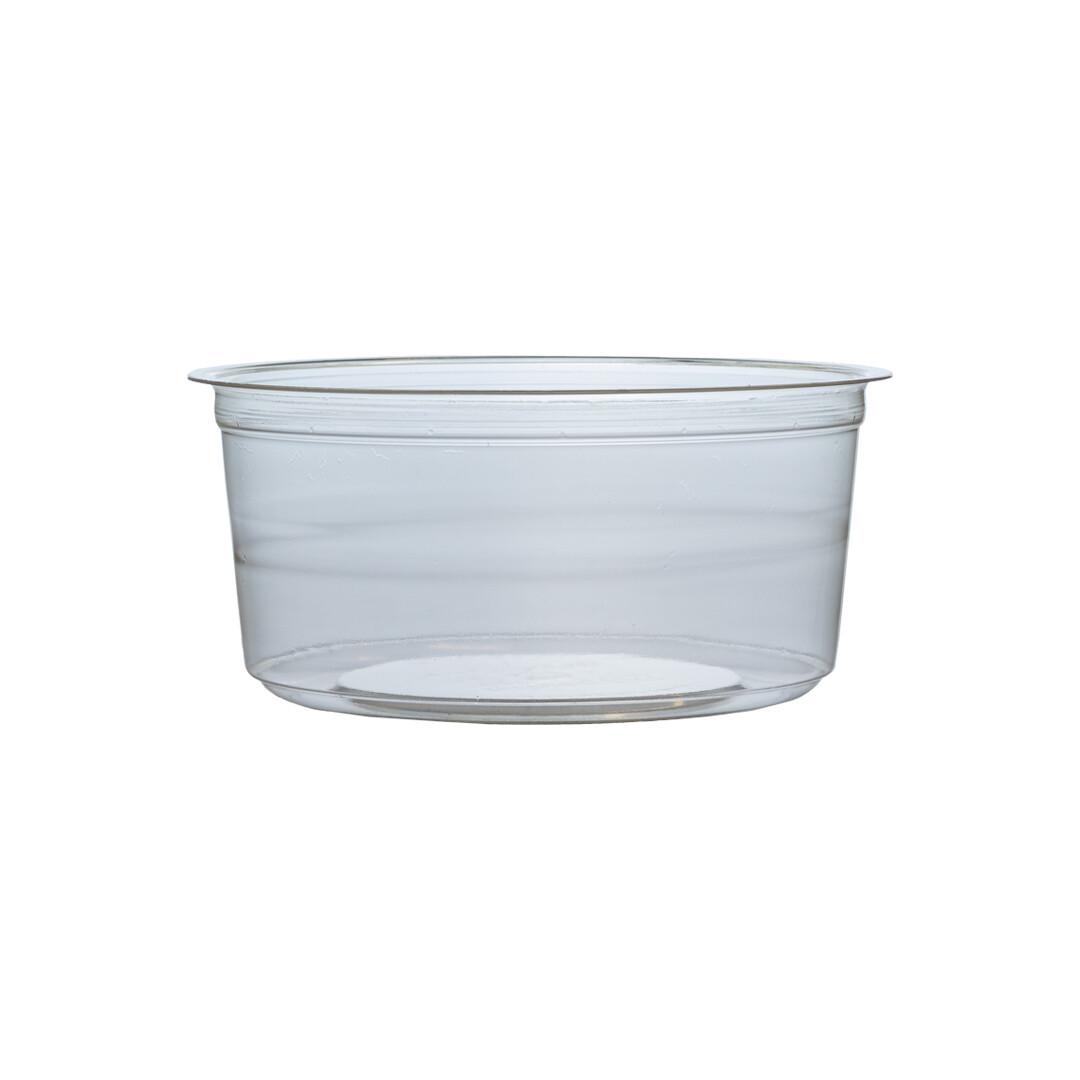 PLA container 480ml/11,5cm Ø x 7,5cm hoog, verpakt per 500 stuks