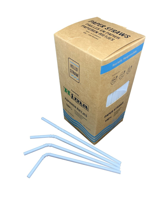 Premium papieren buigrietjes 6x200mm