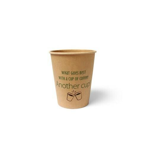 Koffiebeker (Silly Times) karton   237ml/8oz, verpakt per 1000 stuks.