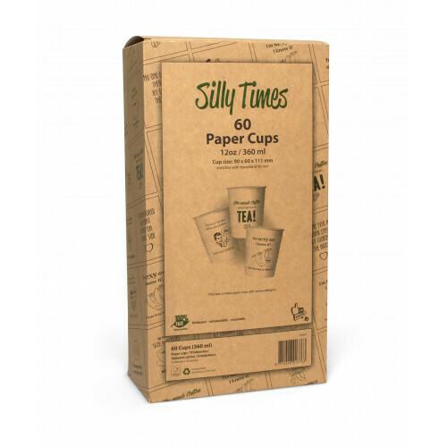 Koffiebeker (Silly Times) karton | 355ml/12oz, 8 displaydozen met 60 stuks in een omdoos