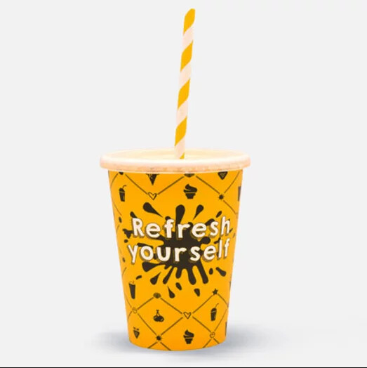 "Milkshakebeker 12oz/300ml Ø 90mm, ""Refresh yourself"", verpakt per 1000 stuks"
