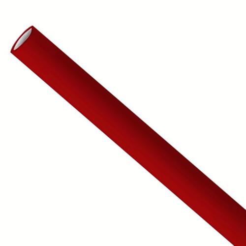 Premium papieren rietjes 6x200mm bordeaux rood, verpakt per 5000 stuks