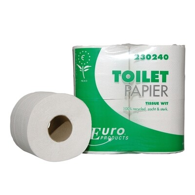 230240 Euro tissue gerecycled 2-laags toiletpapier, pak van 40 rollen