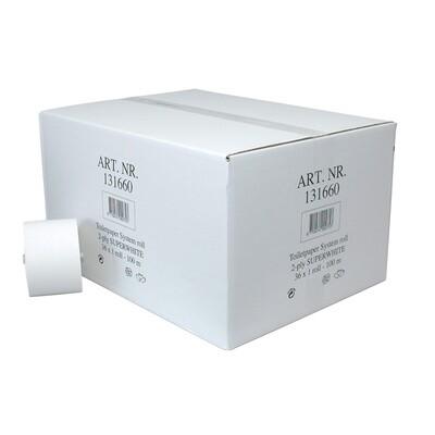 P50610BLK Euro recycled tissue met dop, doos met 36 rollen