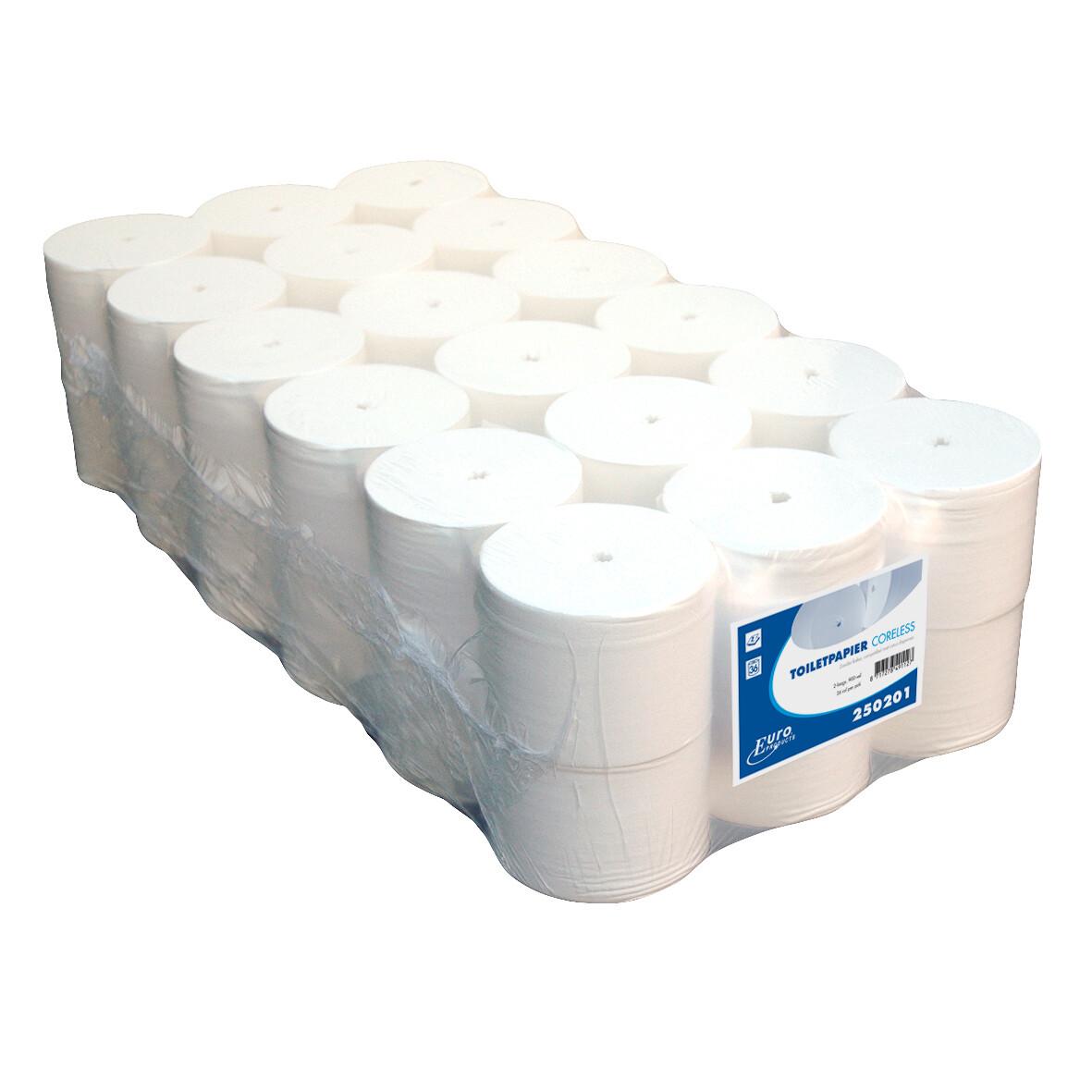 250202 Euro coreless toiletpapier, pak van 36 rollen