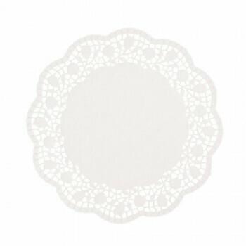 Taartranden rond Ø 25 cm wit, verpakt per 2000 stuks