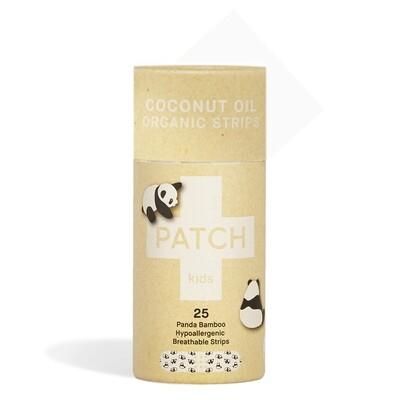 Patch Pleisters Panda Bamboe, Coconut Oil, hypoallergeen, 25 stuks
