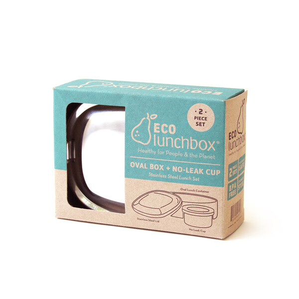 Eco lunchbox, ovaal, 2-delig