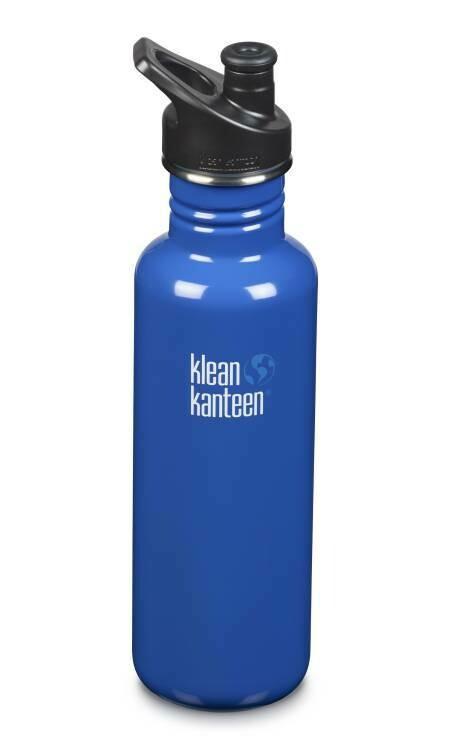 Klean Kanteen Classic drinkfles, sport cap,  27oz/800ml, blauw