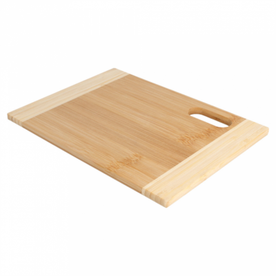 Bamboe snijplank naturel middel 22x30x1,9cm, verpakt per stuk