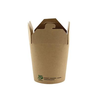 Noodlebox 8oz (100% FAIR)   230 ml 5,8 cm x 6,5 cm x 7,5 cm, verpakt per 500 stuks