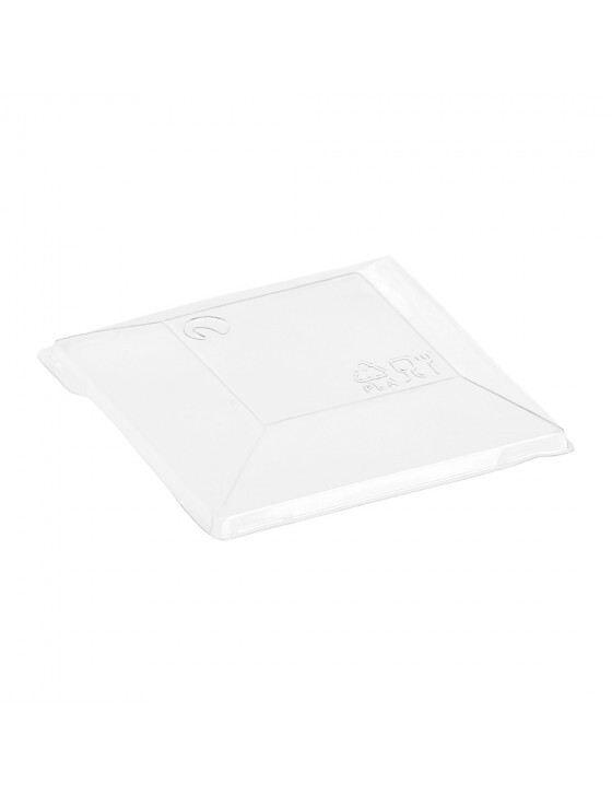 Deksel voor PLA amusebakje Kova 7,2x7,2cm, verpakt per 400 Stuks