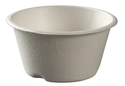 Bagasse bekers wit, 180ml met biolaminaat Ø 9x5cm, verpakt per 25 stuks