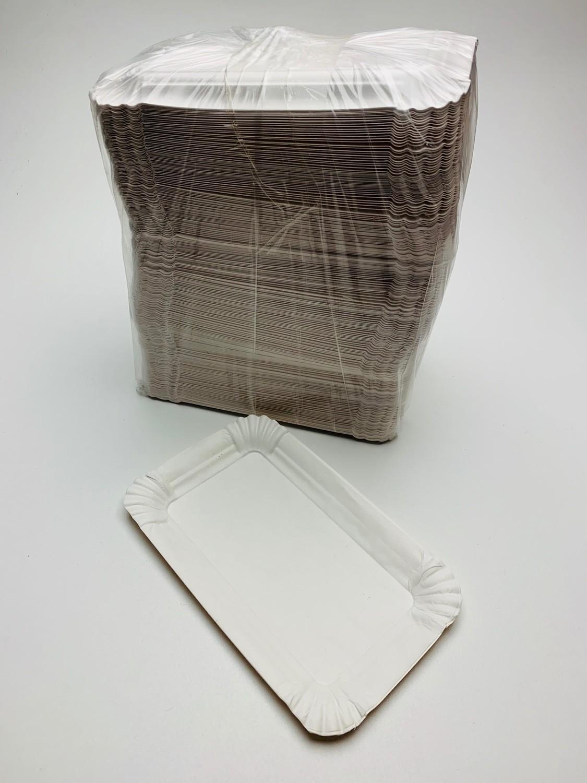 Schaaltje wit 10x16cm. Verpakt per 100 stuks