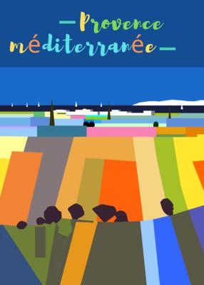 PROVENCE MEDITERRANEE   50X70 ou 42X60