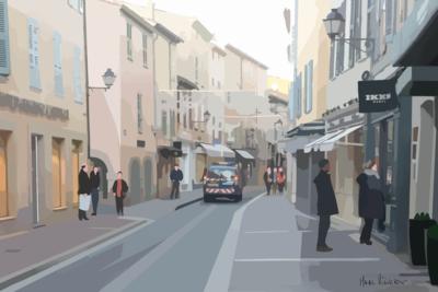 Les Gendarmes  à Saint-Tropez - Rue Allard