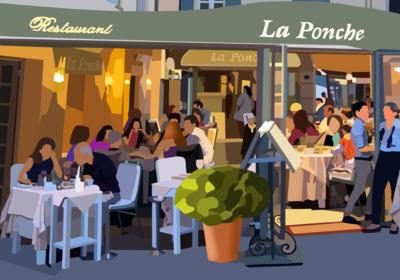 LA PONCHE - SAINT TROPEZ 60X40