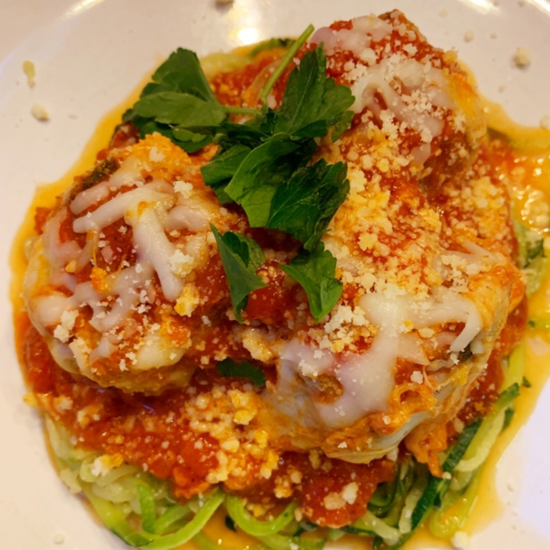 Turkey Parmesan Meatballs w/ Spaghetti