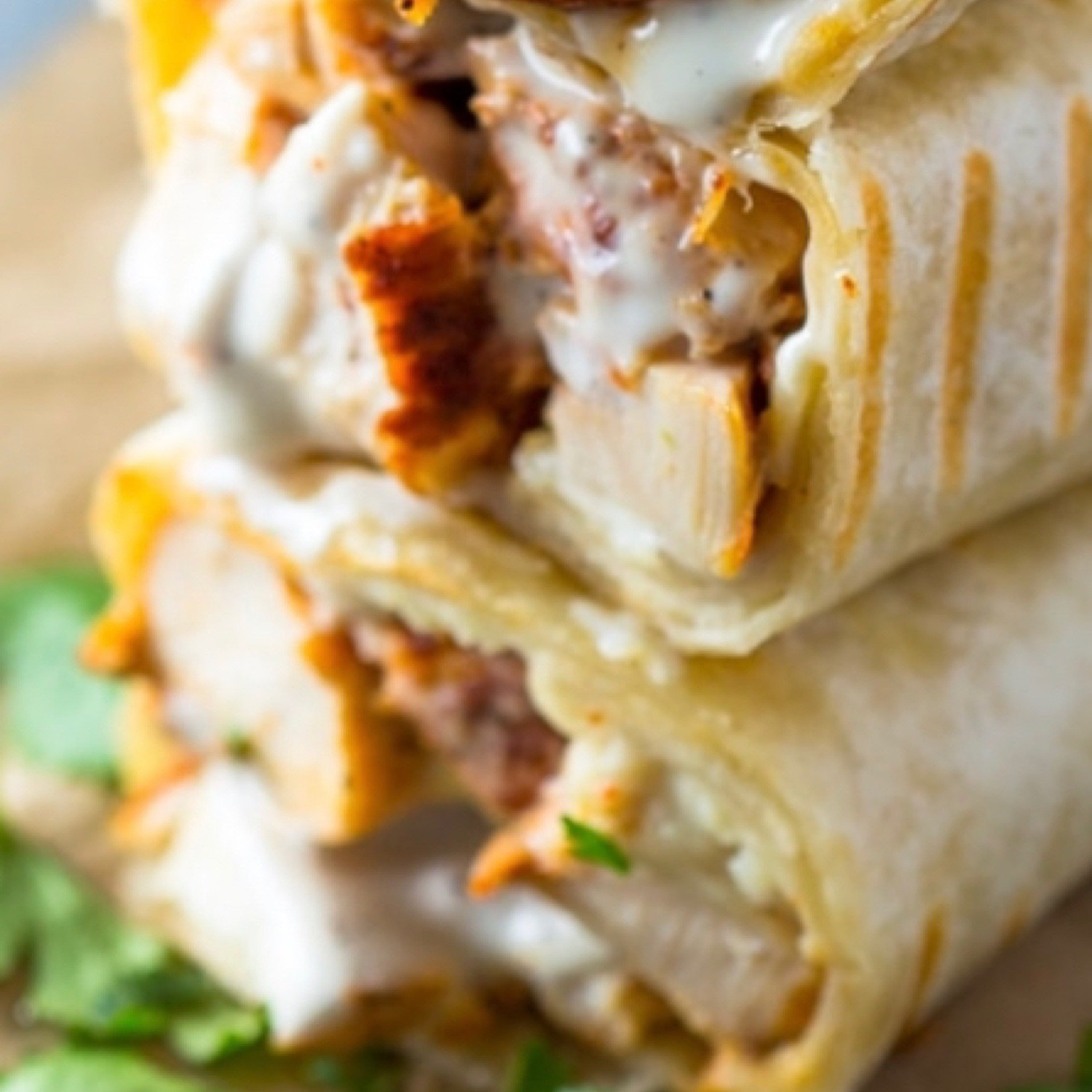 Oven-Baked Chicken Ranch Wraps