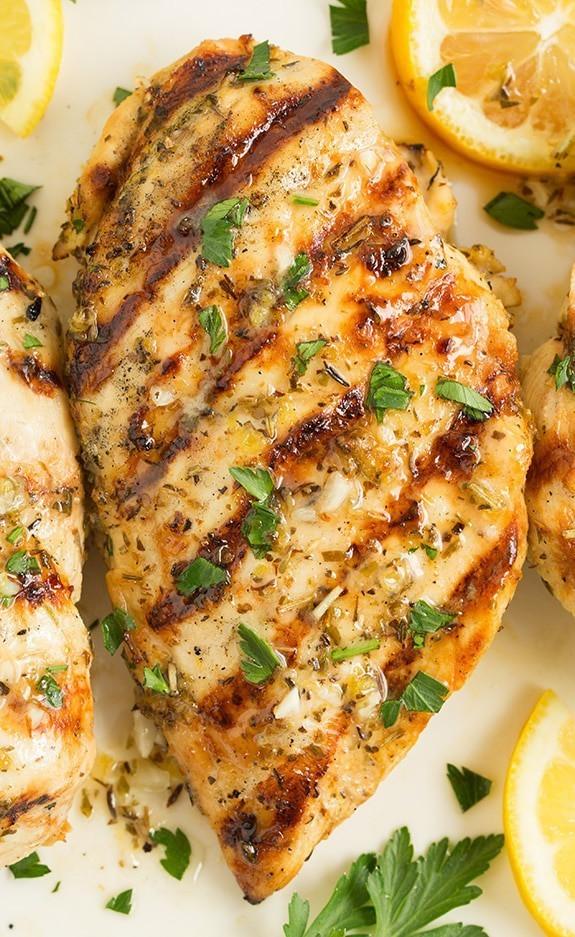 Grilled Greek Lemon Chicken w/Potato Wedges - GF