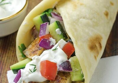 Greek Chicken Gyros