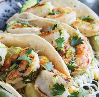 Cilantro Lime Shrimp Street Tacos - GF