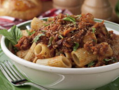 Traditional Beef Bolognese w/ Rigatoni