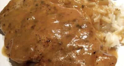 Southern Pork Chops w/Buttermilk Gravy