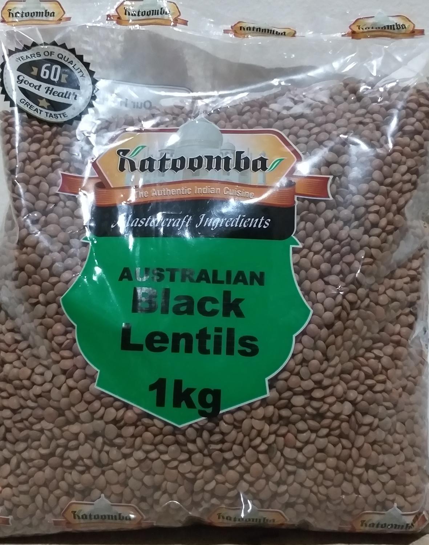 KATOOMBA  BLACK LENTILS ( MASOOR DAL SABUT) 2 KG