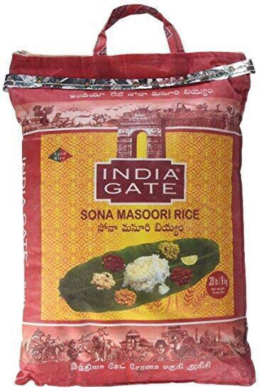 INDIA GATE SONA MASOORI RICE 25 KG