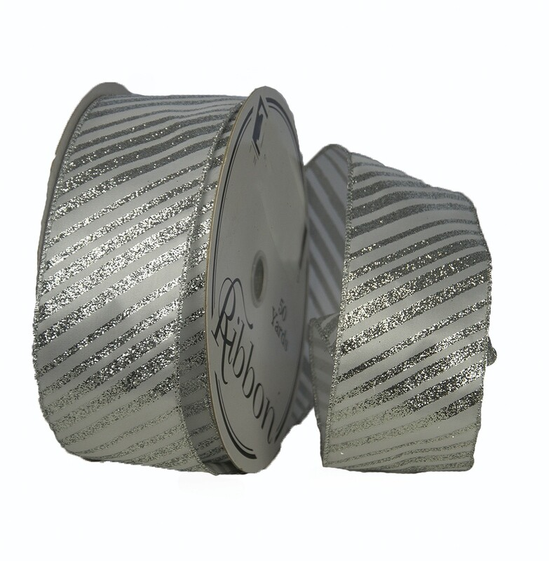 CND40SIL - #40  wired silver / white striped