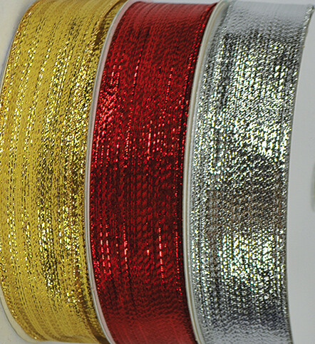 SHIM9RED - #9 Wired Shimmer Ribbon (Red Only)