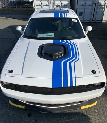 2014 - Up Dodge Challenger Mopar 19 Shakedown Style Rally Stripe Kit​