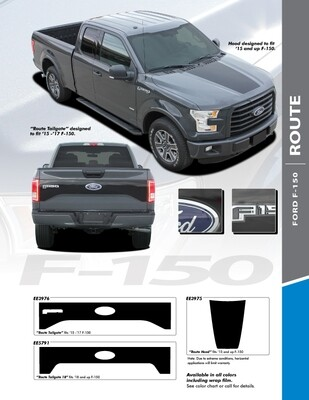 2015 - Up Ford F150 Route Hood Only Graphics